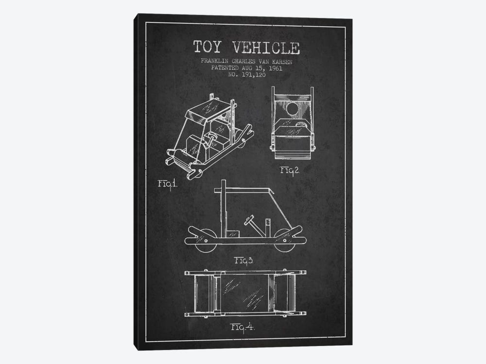 Flinstone Dark Patent Blueprint by Aged Pixel 1-piece Canvas Art