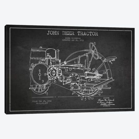 John Deer Charcoal Patent Blueprint Canvas Print #ADP639} by Aged Pixel Canvas Artwork