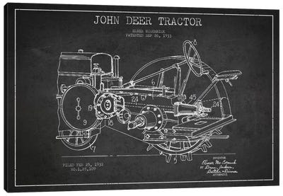 John Deer Charcoal Patent Blueprint Canvas Art Print