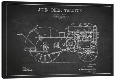 John Deer 3 Charcoal Patent Blueprint Canvas Art Print
