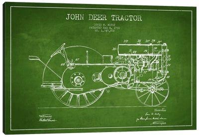 John Deer Green Patent Blueprint Canvas Art Print