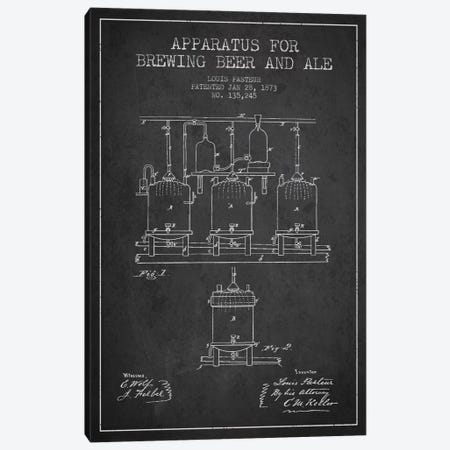Ale Apparatus Charcoal Patent Blueprint Canvas Print #ADP659} by Aged Pixel Canvas Art