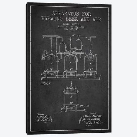 Ale Apparatus Charcoal Patent Blueprint Canvas Print #ADP659} by Aged Pixel Canvas Art