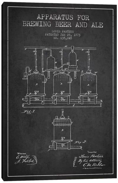 Ale Apparatus Charcoal Patent Blueprint Canvas Art Print