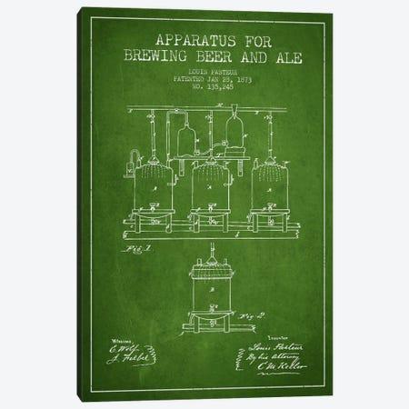 Ale Apparatus Green Patent Blueprint Canvas Print #ADP660} by Aged Pixel Canvas Art Print