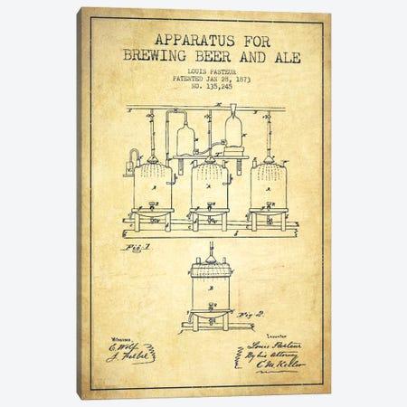 Ale Apparatus Vintage Patent Blueprint Canvas Print #ADP663} by Aged Pixel Canvas Print