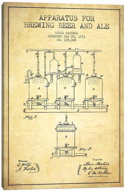 Ale Apparatus Vintage Patent Blueprint Canvas Art Print