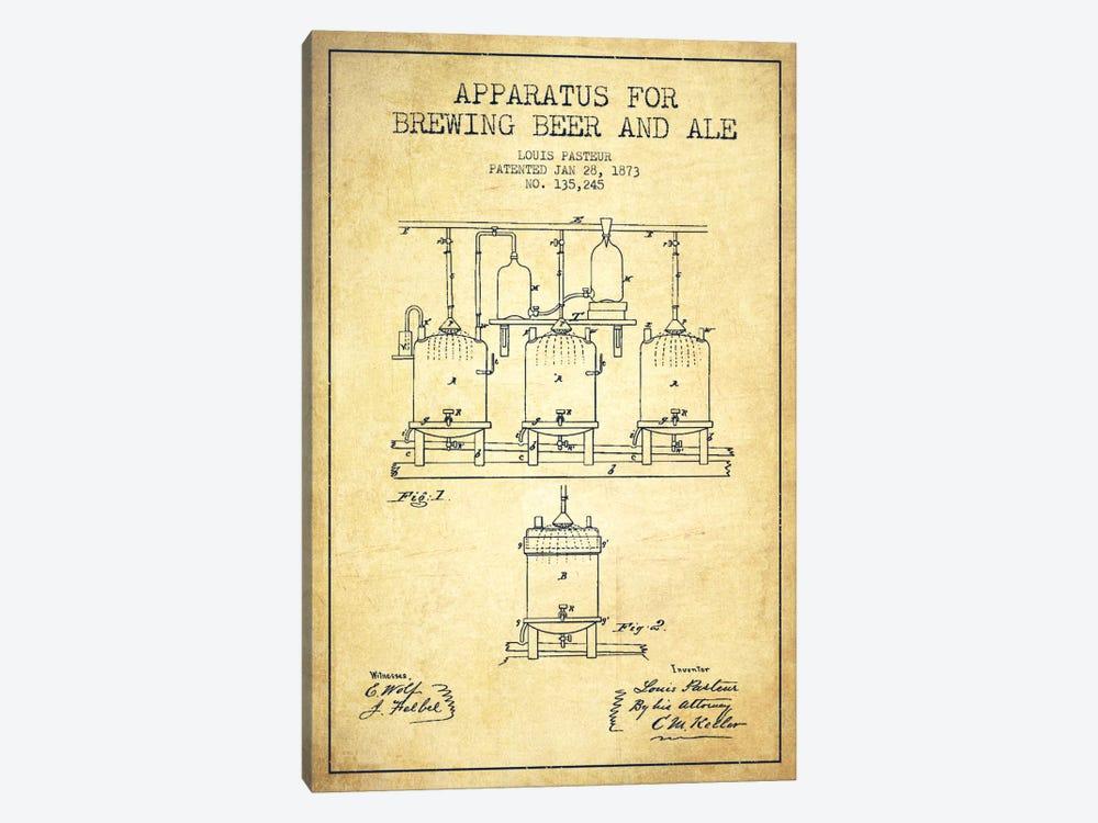 Ale Apparatus Vintage Patent Blueprint by Aged Pixel 1-piece Canvas Art