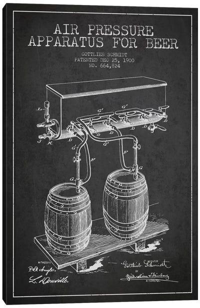 Beer Apparatus Charcoal Patent Blueprint Canvas Art Print