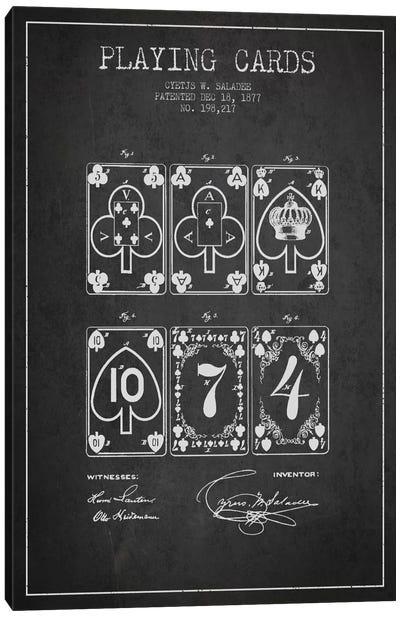 Saladee Cards Dark Patent Blueprint Canvas Art Print