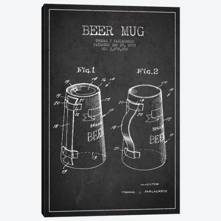Beer Mug Charcoal Patent Blueprint Canvas Print #ADP704} by Aged Pixel Canvas Print