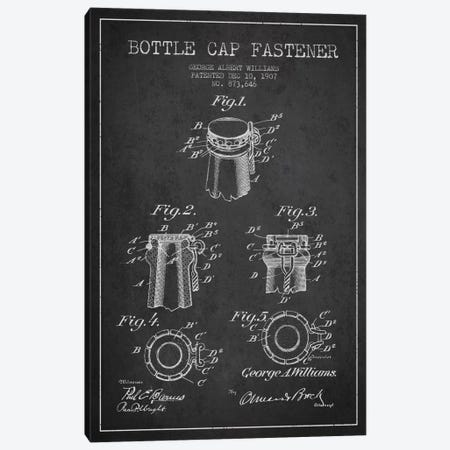 Cap Fastener Charcoal Patent Blueprint Canvas Print #ADP739} by Aged Pixel Canvas Print
