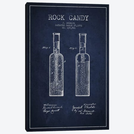 Rock Candy Navy Blue Patent Blueprint Canvas Print #ADP776} by Aged Pixel Canvas Art