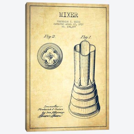 Mixer Vintage Patent Blueprint Canvas Print #ADP783} by Aged Pixel Canvas Wall Art