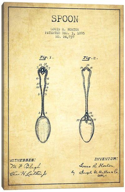 Spoon Vintage Patent Blueprint Canvas Art Print