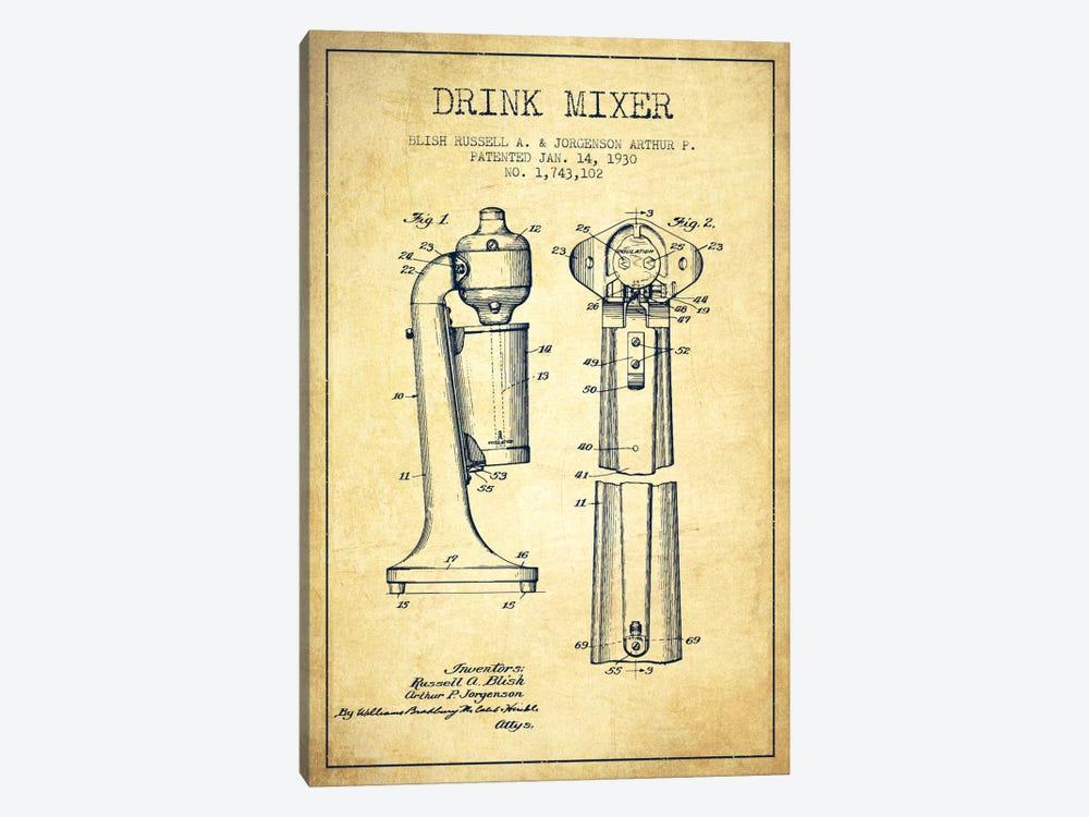 Drink Mixer Vintage Patent Blueprint by Aged Pixel 1-piece Art Print