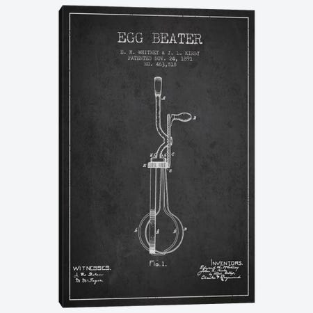Egg Beater Charcoal Patent Blueprint Canvas Print #ADP804} by Aged Pixel Canvas Art