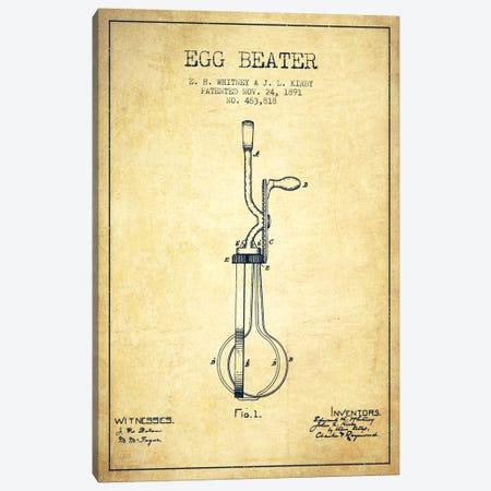 Egg Beater Vintage Patent Blueprint Canvas Print #ADP808} by Aged Pixel Canvas Art Print