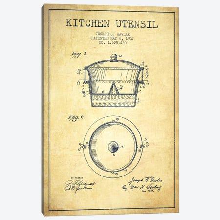Kitchen Utensil Vintage Patent Blueprint Canvas Print #ADP823} by Aged Pixel Canvas Print
