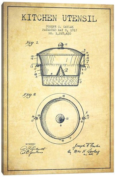 Kitchen Utensil Vintage Patent Blueprint Canvas Print #ADP823