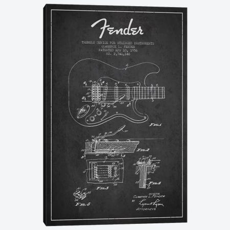 Tremolo Charcoal Patent Blueprint Canvas Print #ADP934} by Aged Pixel Canvas Art