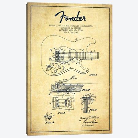 Tremolo Vintage Patent Blueprint Canvas Print #ADP938} by Aged Pixel Canvas Art Print