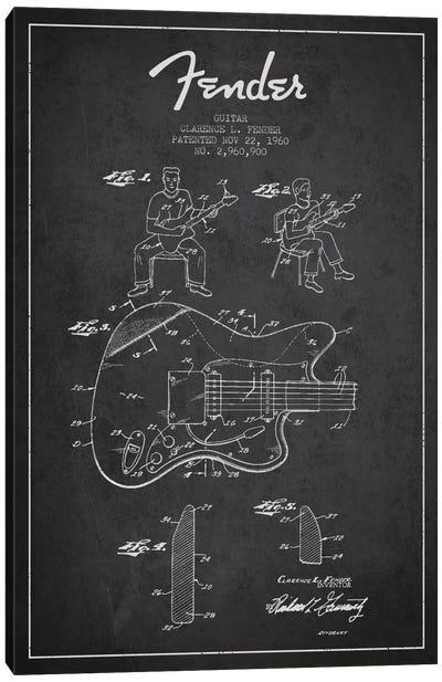 Fender Guitar Charcoal Patent Blueprint Canvas Print #ADP944