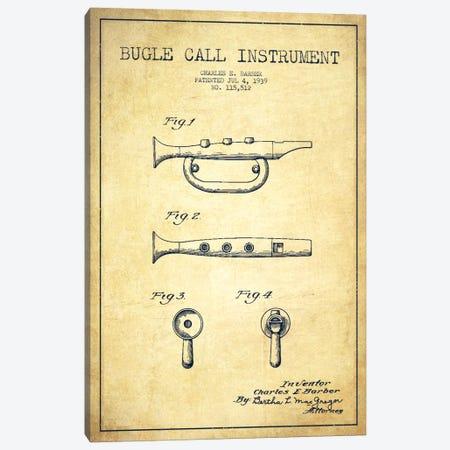 Bugle Vintage Patent Blueprint Canvas Print #ADP988} by Aged Pixel Canvas Art