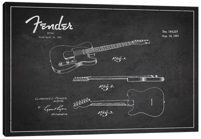 Fender Guitar Patent Blueprint Canvas Art Print