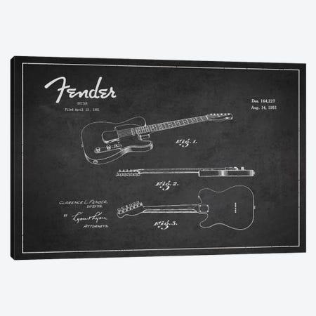Fender Guitar Patent Blueprint Canvas Print #ADP994} by Aged Pixel Canvas Art