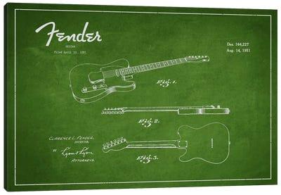 Fender Guitar Patent Blueprint Canvas Print #ADP995