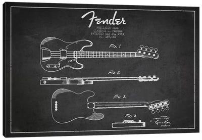 Fender Guitar Charcoal Patent Blueprint Canvas Print #ADP999