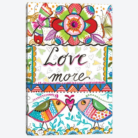 Love More Canvas Print #ADS11} by Ani Del Sol Canvas Wall Art