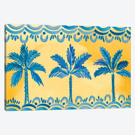 Sunny Palms Canvas Print #ADS16} by Ani Del Sol Art Print