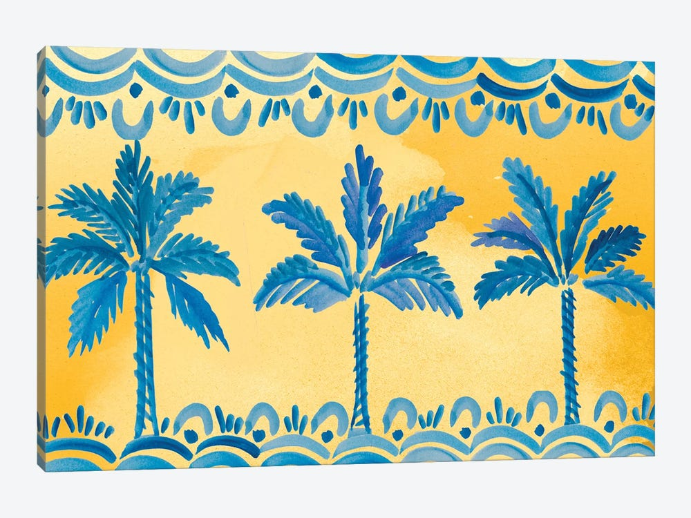 Sunny Palms by Ani Del Sol 1-piece Canvas Artwork