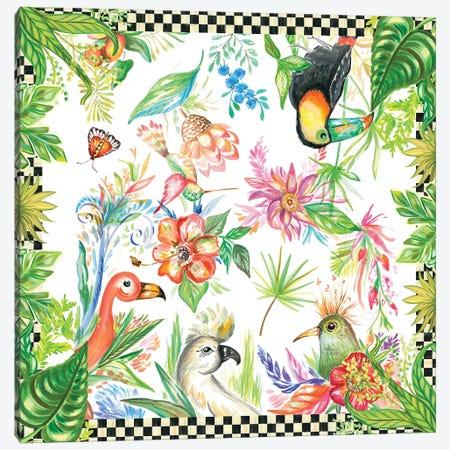 Tropical Birds Canvas Print #ADS17} by Ani Del Sol Canvas Print