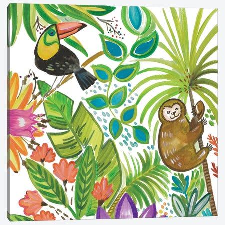 Tropical Wildlife II Canvas Print #ADS19} by Ani Del Sol Canvas Artwork