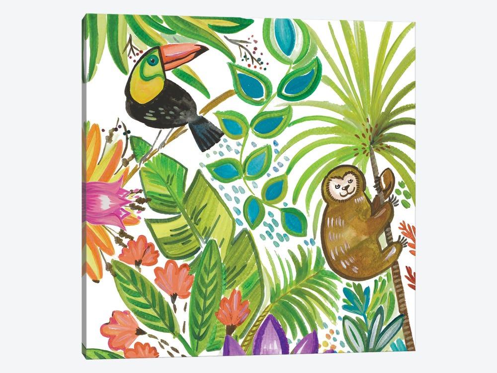 Tropical Wildlife II by Ani Del Sol 1-piece Canvas Print
