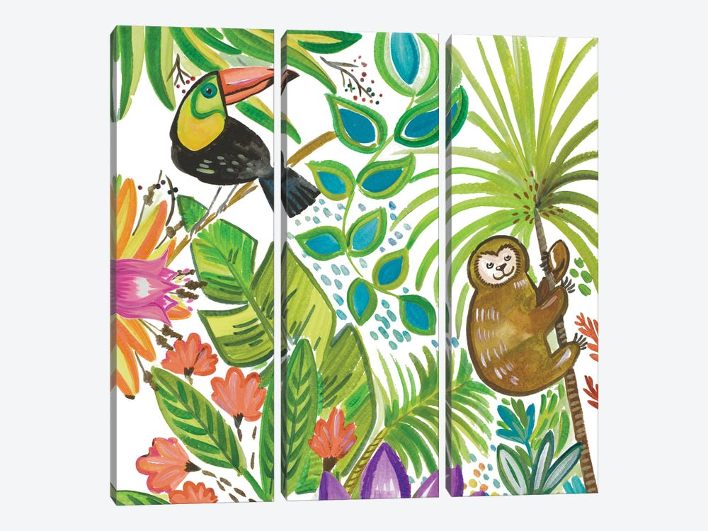 Tropical Wildlife II by Ani Del Sol 3-piece Art Print
