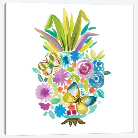 Vibrant Pineapple Canvas Print #ADS20} by Ani Del Sol Art Print