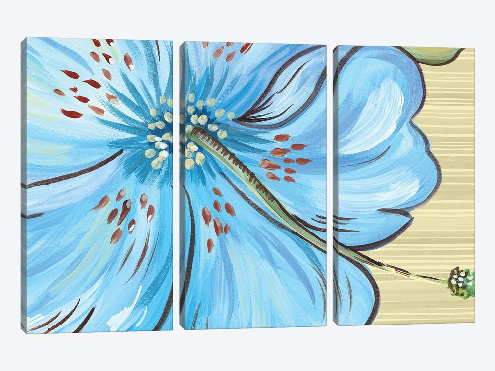 Vibrant Tropical Bloom by Ani Del Sol 3-piece Canvas Wall Art