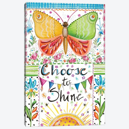 Choose to Shine Canvas Print #ADS2} by Ani Del Sol Canvas Wall Art