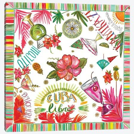 Cuba Libre Canvas Print #ADS4} by Ani Del Sol Art Print