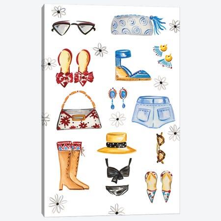 Fashion Accessories Canvas Print #ADS5} by Ani Del Sol Canvas Print