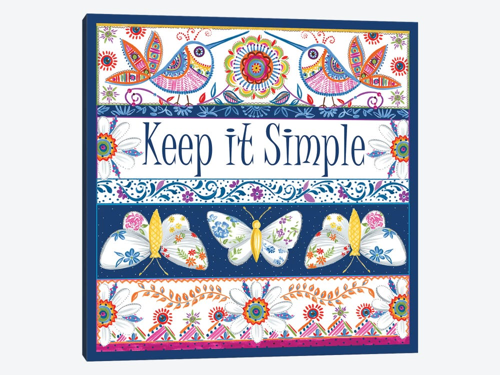 Keep it Simple by Ani Del Sol 1-piece Art Print