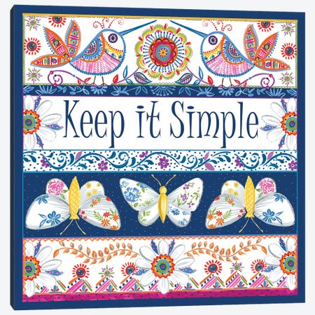Keep it Simple Canvas Print #ADS8} by Ani Del Sol Canvas Art