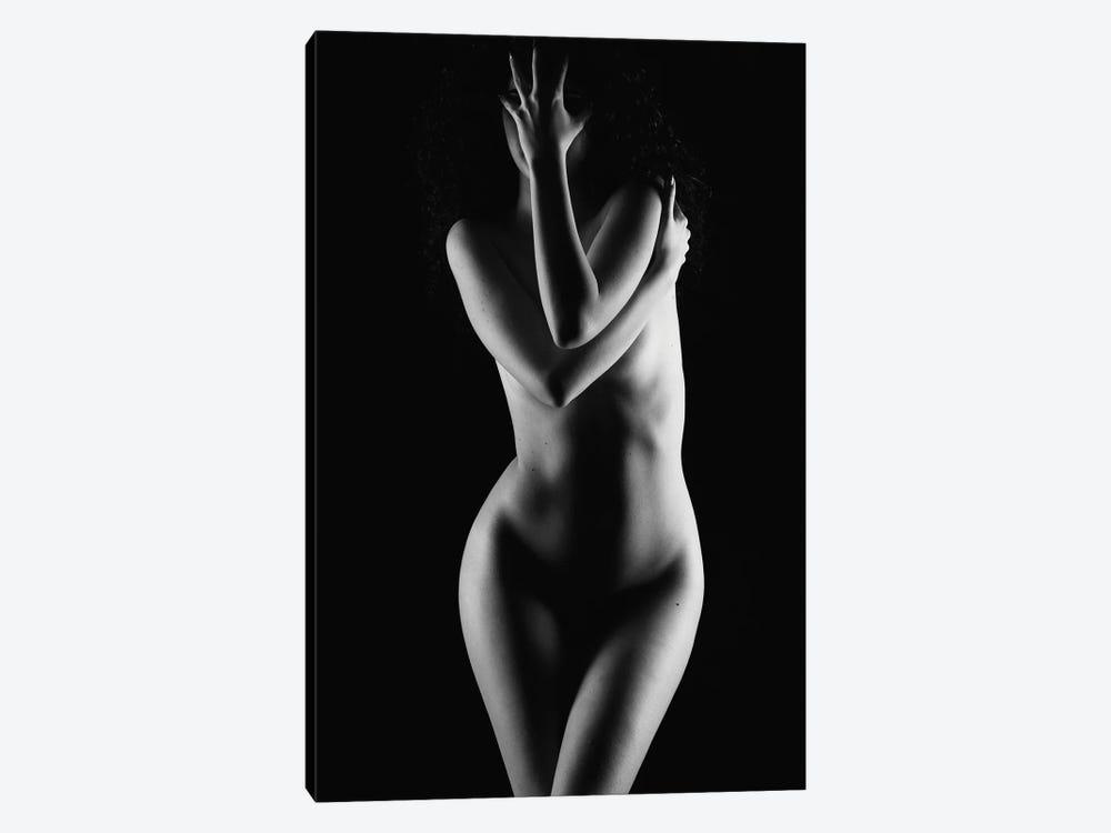 Black And White Nude Woman Silhouette V by Alessandro Della Torre 1-piece Art Print