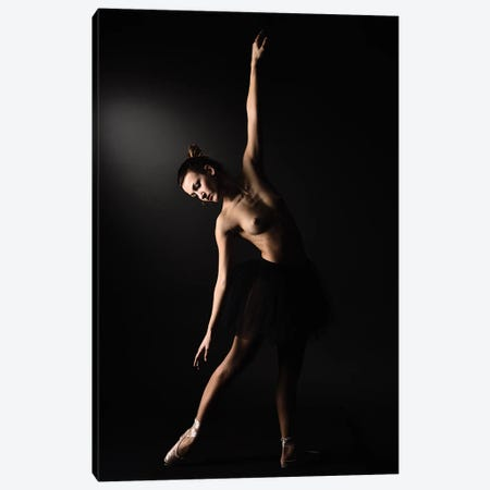 Nude Ballerina Ballet Dancer With Tutu Dress And Shoes II Canvas Print #ADT133} by Alessandro Della Torre Canvas Artwork
