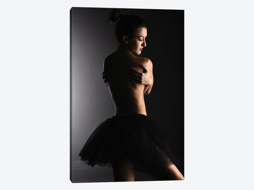 Nude Ballerina Ballet Dancer With Tutu Dress And Shoes XXV by Alessandro Della Torre 1-piece Canvas Wall Art