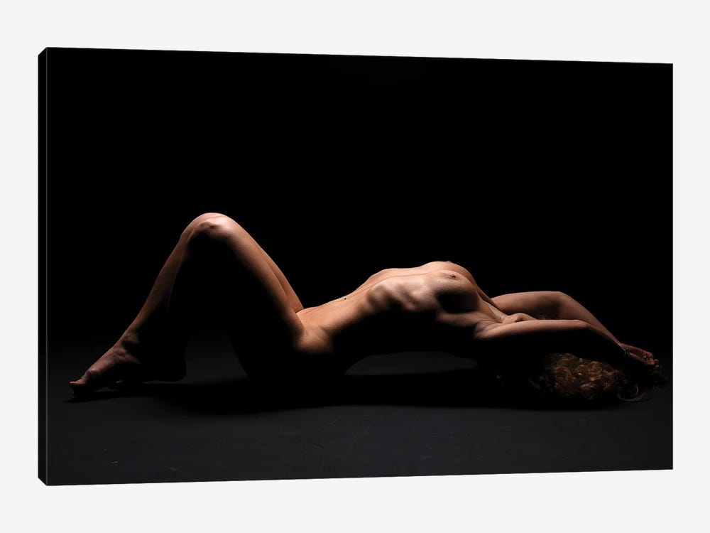 Nude Woman's Body Bodyscape Laying Down Naked by Alessandro Della Torre 1-piece Canvas Wall Art
